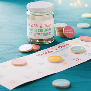 Personalised Advent Calendar Activity Tokens Jar - shop by price