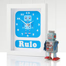 Personalised Framed Robot Clocks