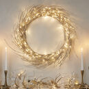 Large Champagne Gold LED Christmas Wreath