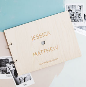 Personalised Heart Couples Photo Album - new in wedding styling