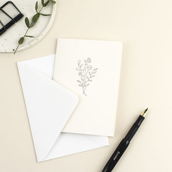Botanical Letterpress Greetings Card