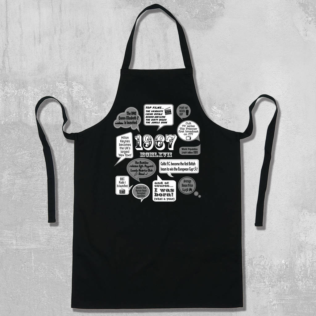 White apron cape town -  Events Of 1967 50th Birthday Apron