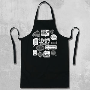 'Events Of 1967' 50th Birthday Apron