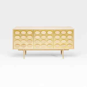 Gold And Wood Sideboard