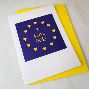 I Love E U Anniversary Card - funny cards