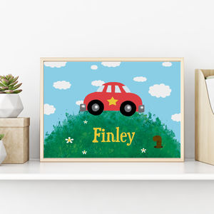 Personalised Car Print