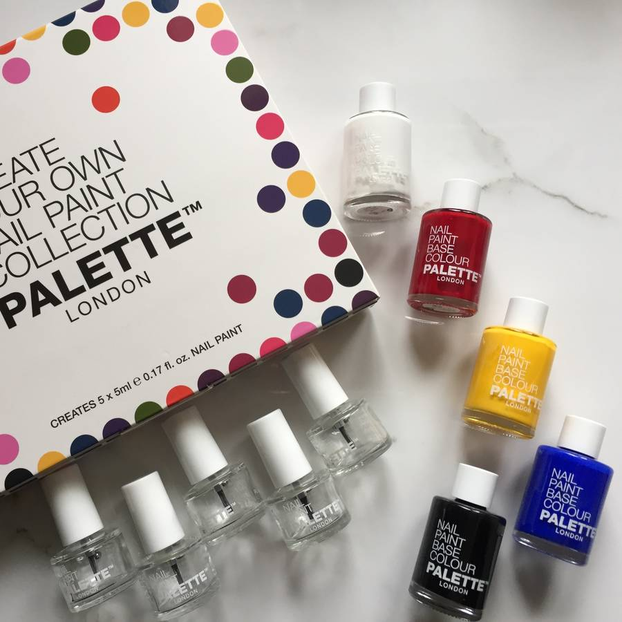 create your own nail polish collection 5pc by palette london ...