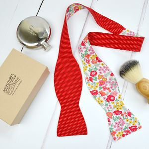 Handmade Mix And Match Bow Tie : Red Rose - men's accessories