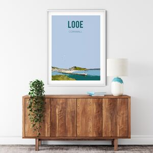 Looe, Cornwall Fine Art Travel Poster