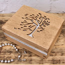 Personalised Wooden Tree Design Jewellery Box