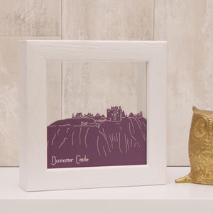 Dunnottar Castle Mini Papercut - mixed media & collage