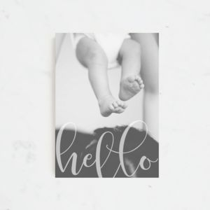 Hello World Birth Announcement And Thank You Cards - new baby & christening cards