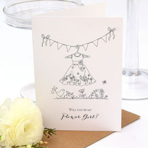 Will You Be My Flower Girl Card - wedding cards