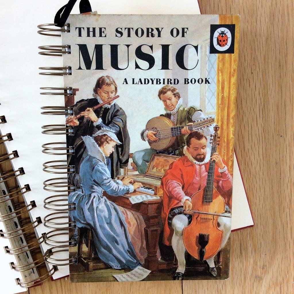 'Ladybird Music' Upcycled Notebook