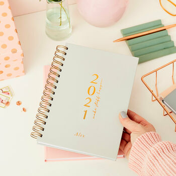 Personalised Make It Happen 2021 Weekly Diary