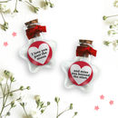 Personalised Love Token In Star Bottle