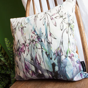 Fuchsia Floral Throw Cushion - cushions