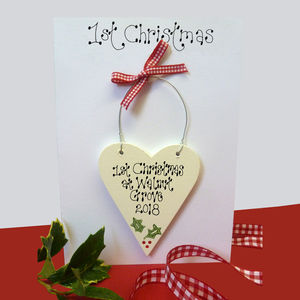 Personalised 1st Christmas Card - christmas cards