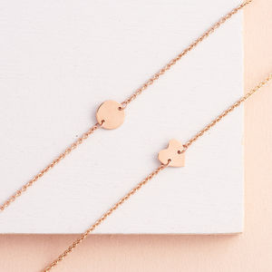 Fine Rose Gold Personalised Bracelet - gifts for sisters