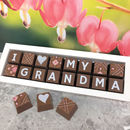Personalised I Love My Granny Chocolate Gift