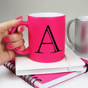 Alphabet Bright Neon Mugs - summer sale