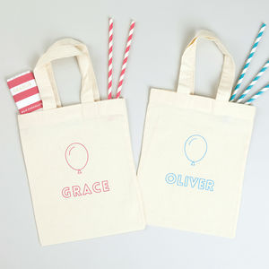 Personalised Balloon Party Bags - decoration