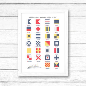 Maritime Signal Flags Alphabet Print - what's new