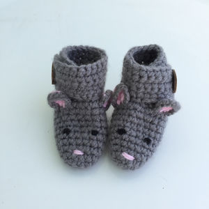 Animal Character Booties - cosy clothing