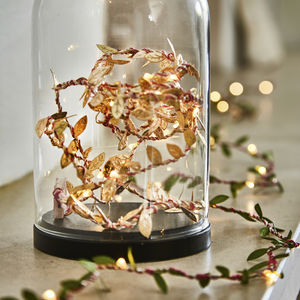 Gold Leaf Battery Fairy Lights - christmas lighting