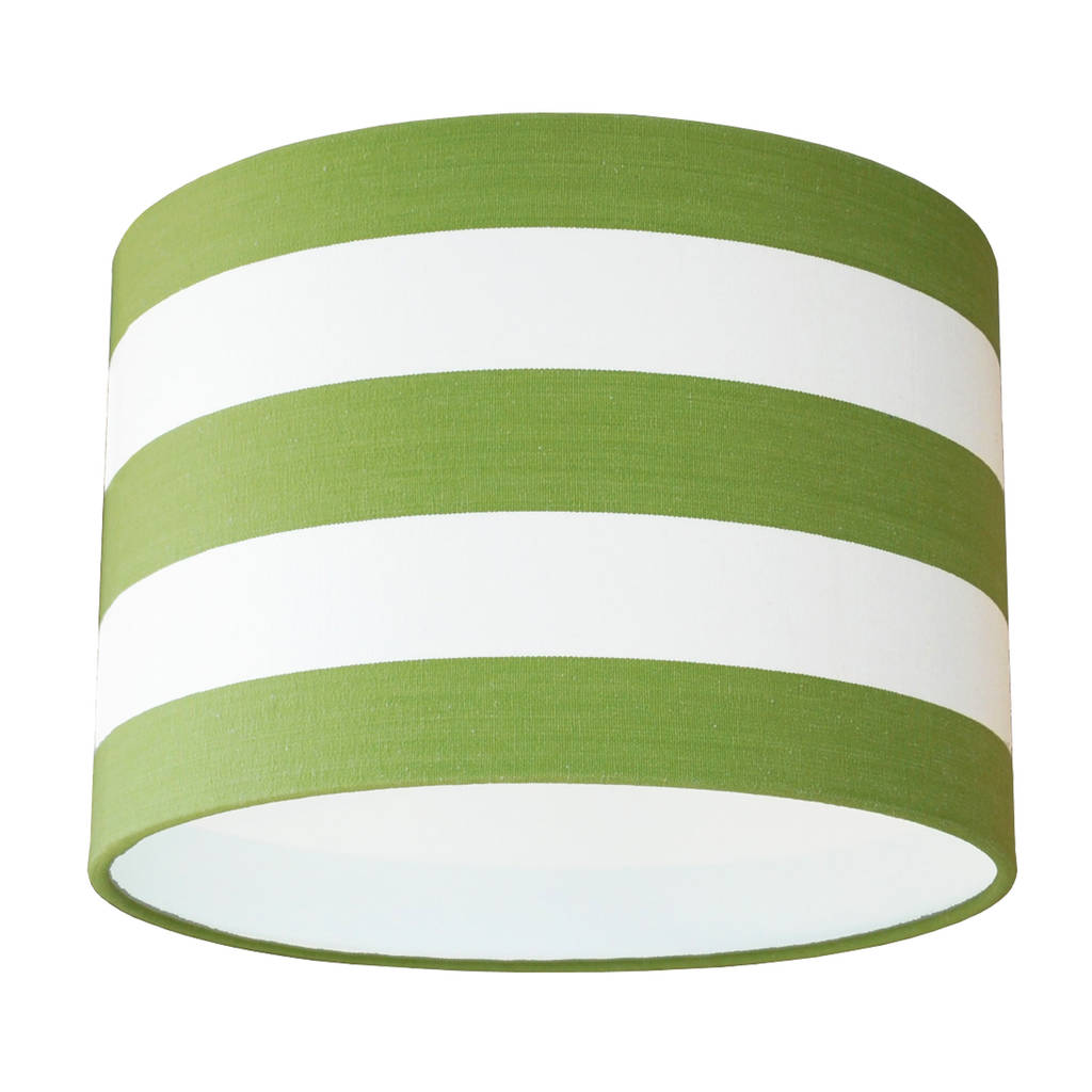 Green And White Deckchair Stripe Lampshade By Quirk