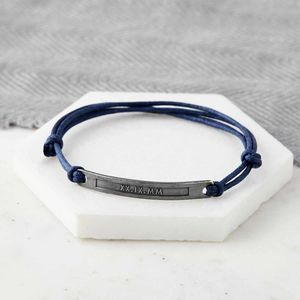 Personalised Date Hidden Message Bracelet