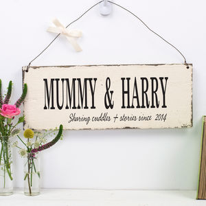 Personalised Motherly Moment In Time Sign - gifts for mothers