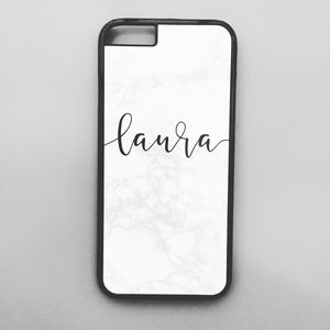 Personalised Marble Mobile Phone Case