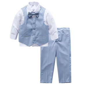 Ring Bearer Page Boy's 4pc Pale Blue Suit - boys occasion wear