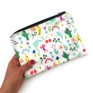 Everything Nice Velvet Make Up Clutch Bag