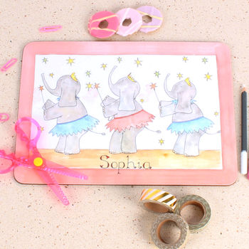 Dancing Ellies Placemat
