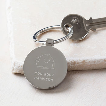 Personalised You Rock Keyring