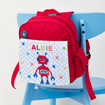 Boys Personalised Robot Mini Rucksack