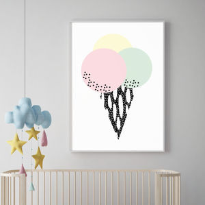 Abstract Ice Cream Print