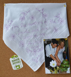 Embroidered Wedding Or Civil. P Art Hanky