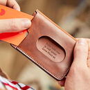 Personalised Leather Wallet With Rfid Protection