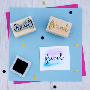Friend Sentiment Rubber Stamp