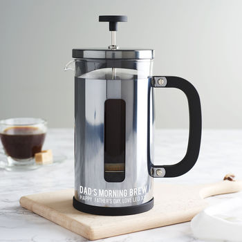 Personalised Gunmetal Cafetiere For Dad
