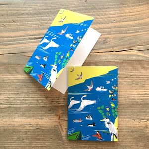 Birds Of London Mini Greeting Cards, A6 Size - cards & wrap