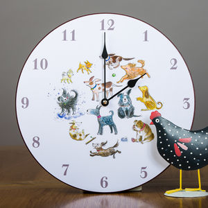 Dog Design Wall Clock - clocks