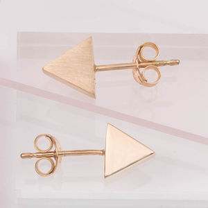Single Mini Triangle Stud Earring - earrings