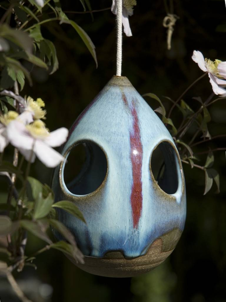 hand thrown squirrel proof bird feeder by tythegston pottery ...
