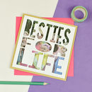 Personalised 'Besties For Life' Photo Papercut Card
