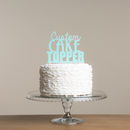 Personalised Party Wedding Or Birthday Cake Topper