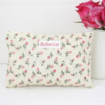 Oilcloth Personalised Make Up Bag